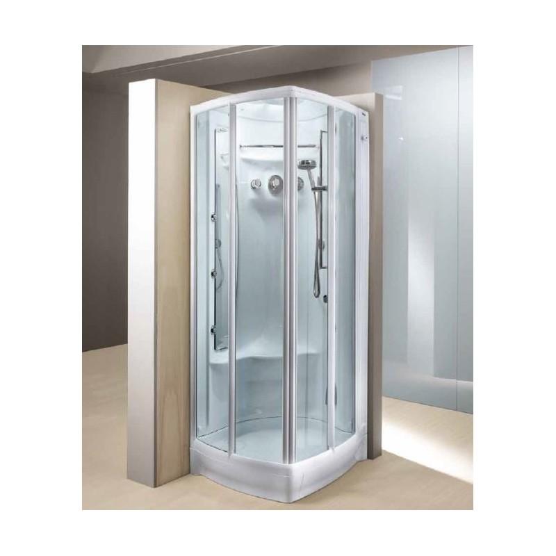 Box doccia teuco l03j bagno turco rubinetteria miscelatore monocomando - Doccia bagno turco teuco ...