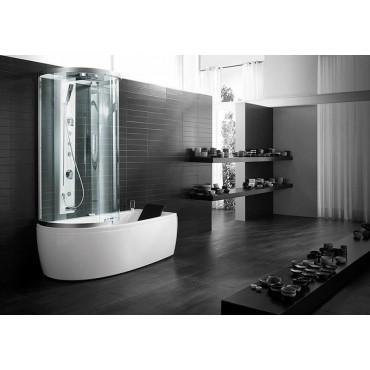 Box doccia multifunzione teuco l04j 110x80 rubinetteria bagno turco sx - Cabina doccia con vasca ...