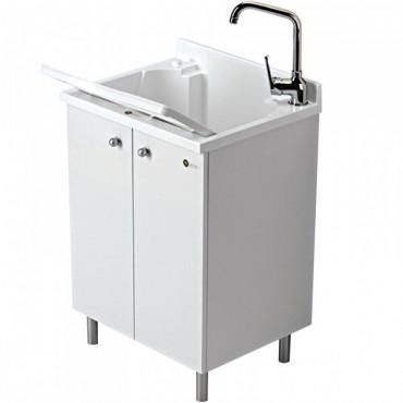 Completo da bagno clever inda olmo bianco laminato legno - Asse da bagno ...