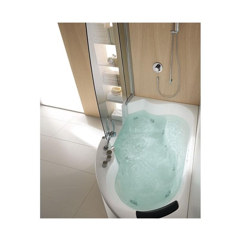 vasca teuco 383-oc combinata con cabina doccia a parete e rubinetteria